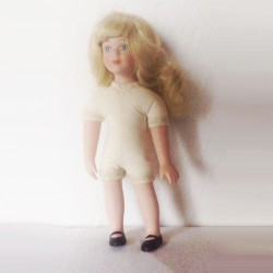 porcelain dress doll 18 cm