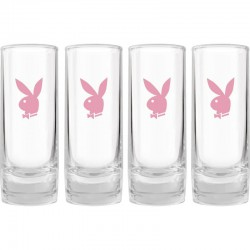 Playboy 4 shot glasses